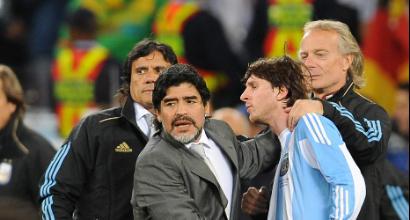 Maradona e Messi (LaPresse)