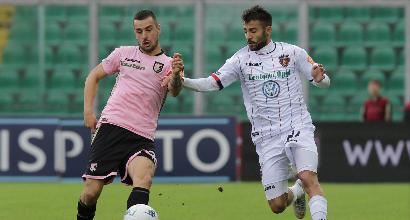 Serie B: primato Palermo all'ultimo respiro, colpo Ascoli a Benevento