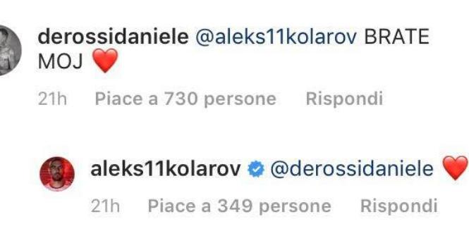 Roma, De Rossi difende Kolarov: