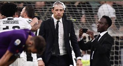 """Juve, Allegri: """"Stagione straordinaria, peccato per la Champions"""""""