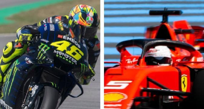 Rossi e Vettel contro il digiuno di vittorie