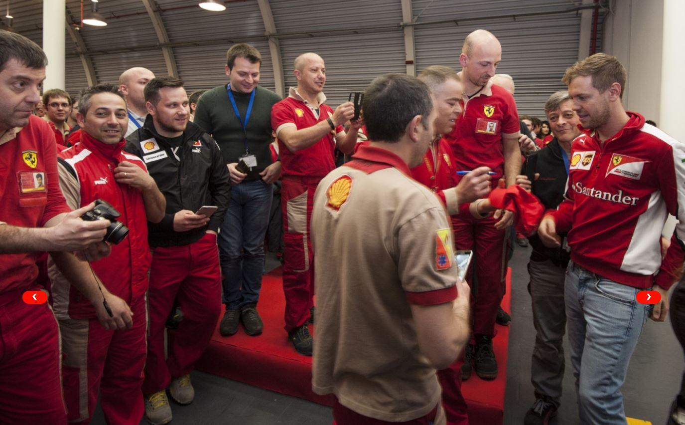 Ferrari: blitz di Sebastian Vettel a Maranello