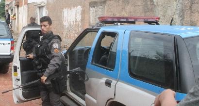 Polizia Brasile, foto Afp