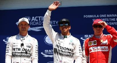 Rosberg, Hamilton e Raikkonen (Afp)