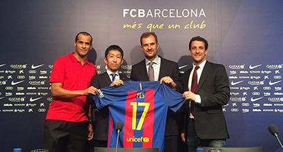 Il Barcellona sceglie PES 2017 come partner ufficiale