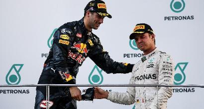 """F1 a Sepang, Ricciardo: """"Grande lavoro di squadra"""""""