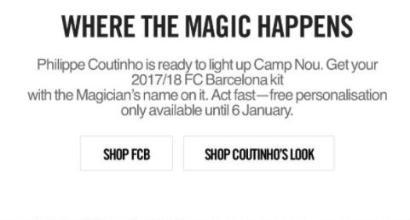 Barcellona, gaffe Nike: annunciato Coutinho