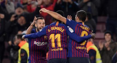 Liga: Barcellona ok contro il Leganés ma trema per Dembélé