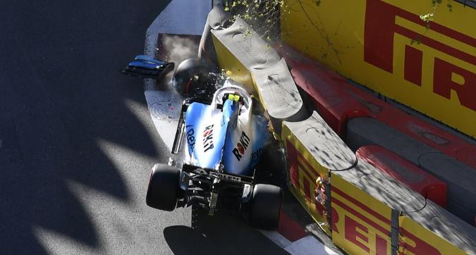 F1 Azerbaigian, schianto alla stessa curva per Kubica e Leclerc
