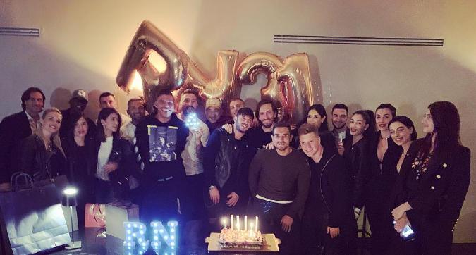 Inter, festa di compleanno a Roma per Nainggolan