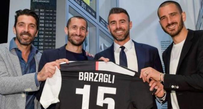 Juventus, Barzagli tra le leggende