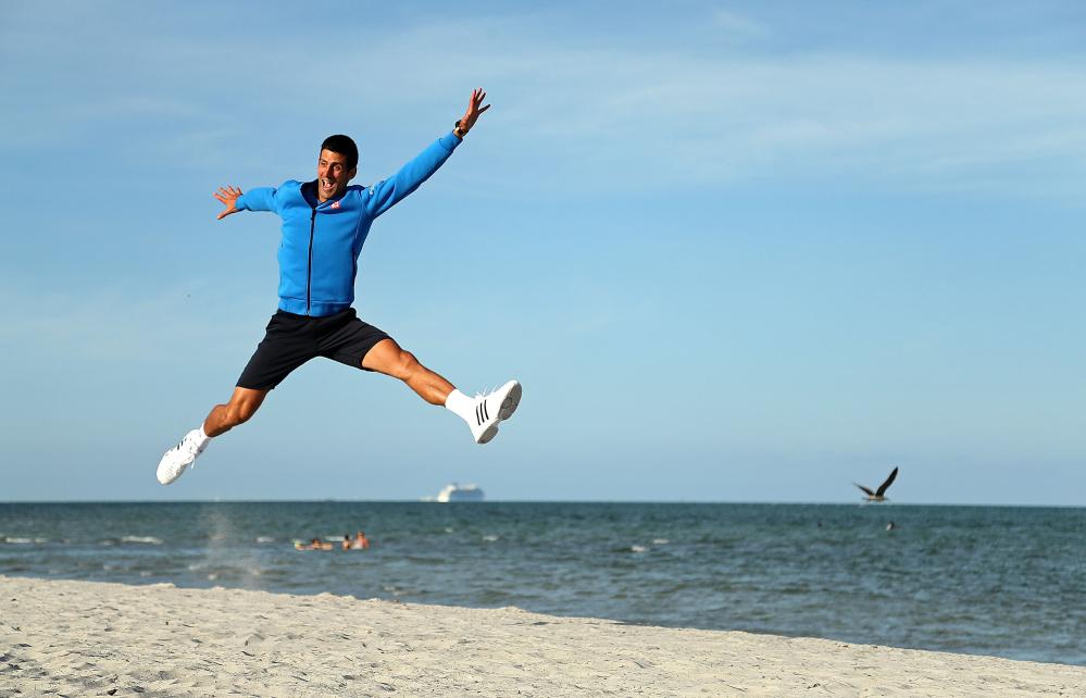 Djokovic festeggia così