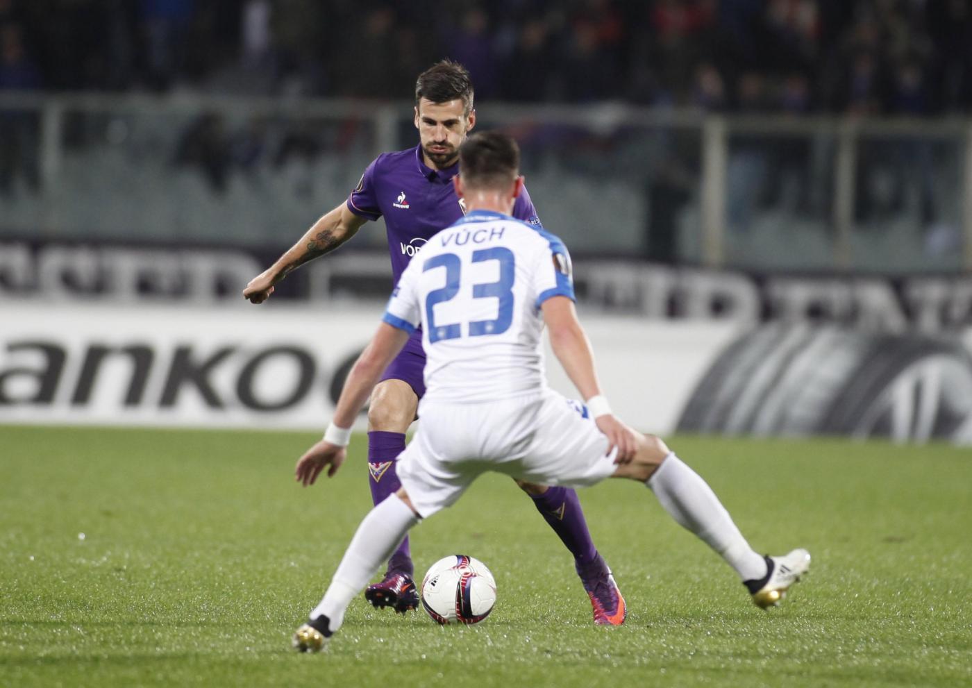 E. League, Fiorentina- Slovan 3-0