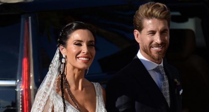 Sfilata di campioni al matrimonio di Sergio Ramos