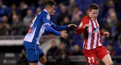 Liga, Atletico Madrid castigato nel finale: vince l'Espanyol