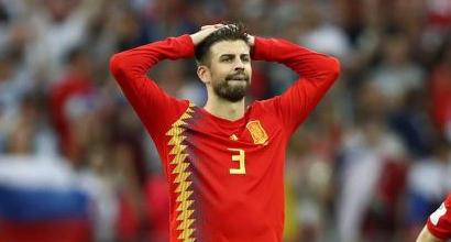 Piquè lascia la Nazionale spagnola