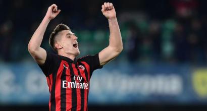 """Il papà di Piatek: """"Vuole portare il Milan in Champions, dopo il 2023 si vedrà"""""""