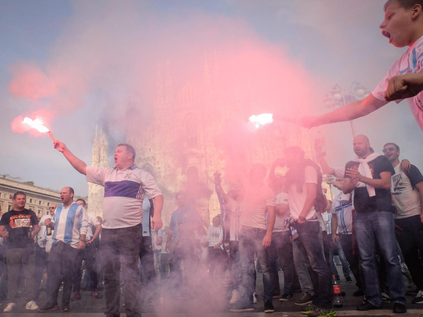 Milano, invasione dei tifosi del Rijeka