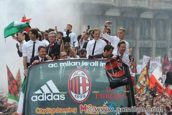 La festa del Milan