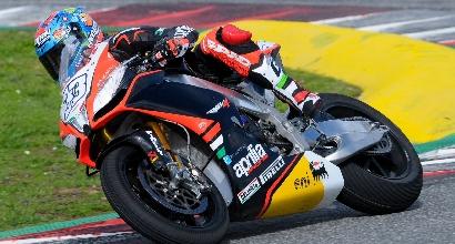 Test Superbike: spalla ok per Guintoli, davanti Sykes-Melandri