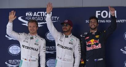 """L'orgoglio di Hamilton: """"E' la terza pole su tre qualifiche..."""""""