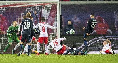 Bundesliga: Lipsia, il dominio non basta. L'Hertha cala il tris in dieci uomini