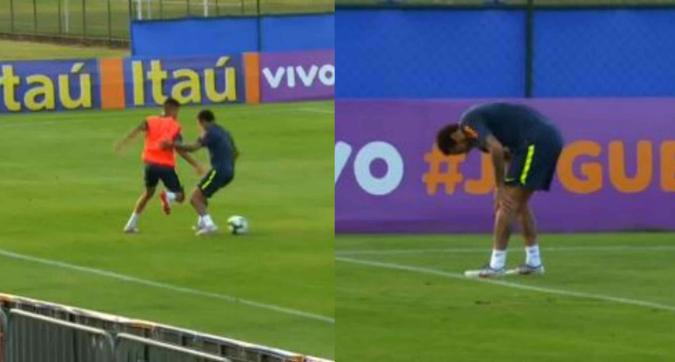 Brasile, infortunio per Neymar: costretto a lasciare l'allenamento