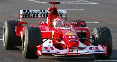 Schumacher, all'asta la Ferrari F2002 della vittoria mondiale