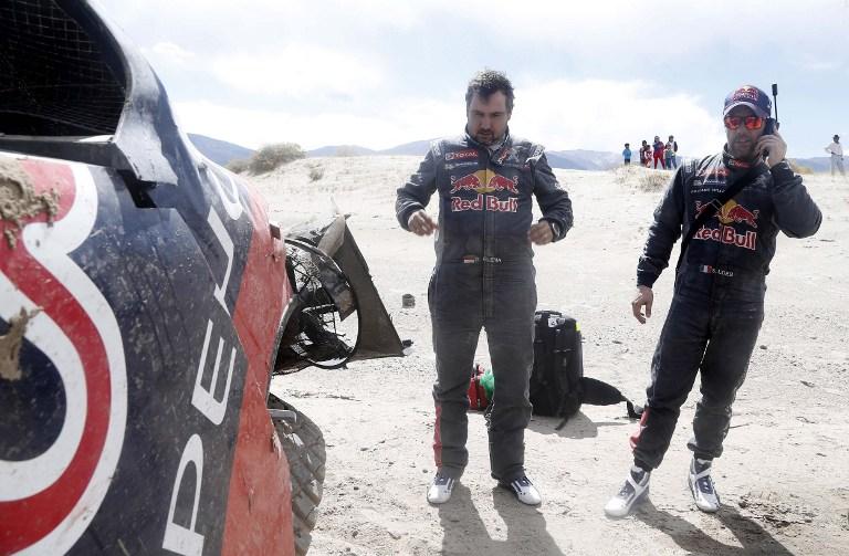 Dakar, brutto incidente per Loeb nell'ottava tappa