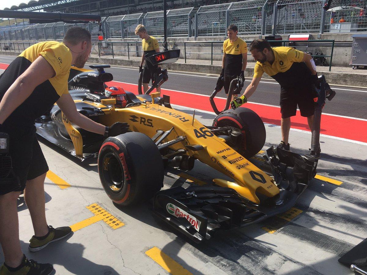 F1, Kubica in pista a Budapest sulla Renault