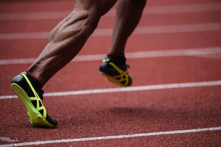 I muscoli di Julian Walsh durante la gara dei 400 metri ai Giochi Asiatici (25 agosto)