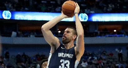 Nba: i Nets vincono a Memphis, rabbia Gasol