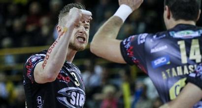 Volley, quarti di finale Scudetto: Perugia batte Ravenna e si prende la semifinale