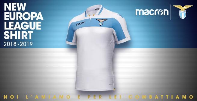 Lazio, maglia Europa League ispirata al Centenario