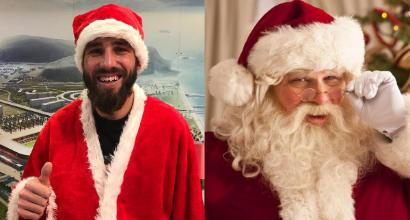 """Natale """"Pavoloso"""" a Cagliari: sorpresa sotto la barba"""