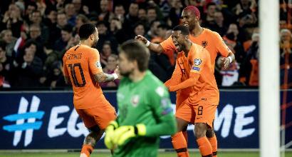 Qualificazioni Euro 2020: Piatek fa volare la Polonia, poker dell'Olanda alla Bielorussia, stecca la Slovenia