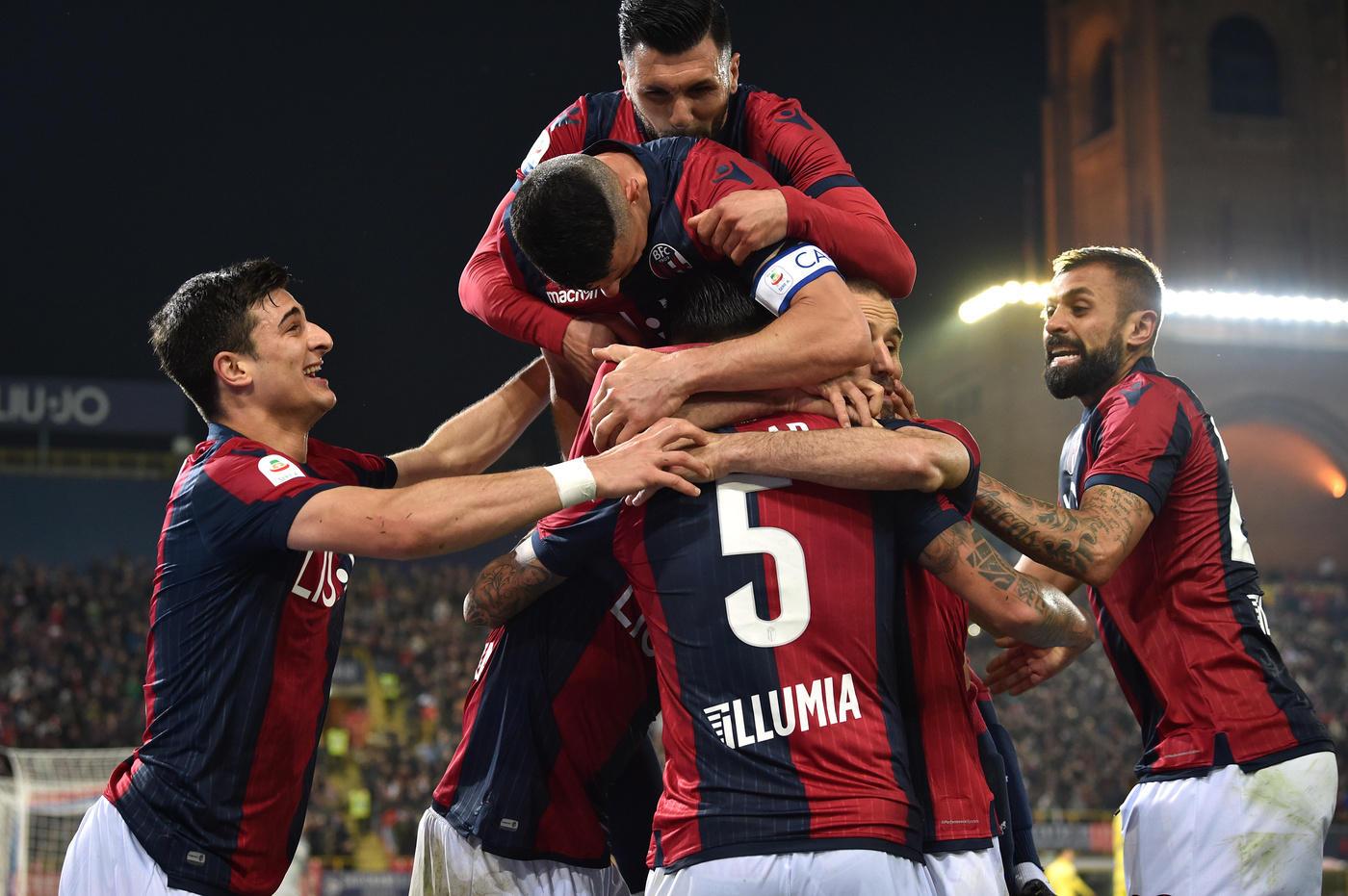 Il Bologna batte per 2-0 il Chievo ed entra in zona salvezza.