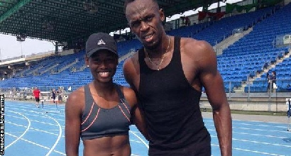 Candace Hill e Usain Bolt (Twitter)