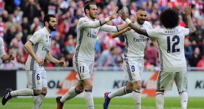 Benzema-Casemiro, il Real vince a Bilbao e allunga