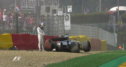 F1 Belgio, Massa riparte con un incidente
