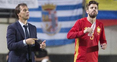 """Spagna, Lopetegui: """"Piqué? Non discuto l'opinione politica di una persona"""""""