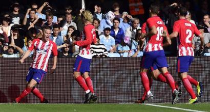 Liga: Gameiro fa volare l'Atletico, il Real supera l'Eibar