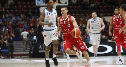 Basket, Sassari batte 112-101 Milano in gara-2 della semifinale playoff