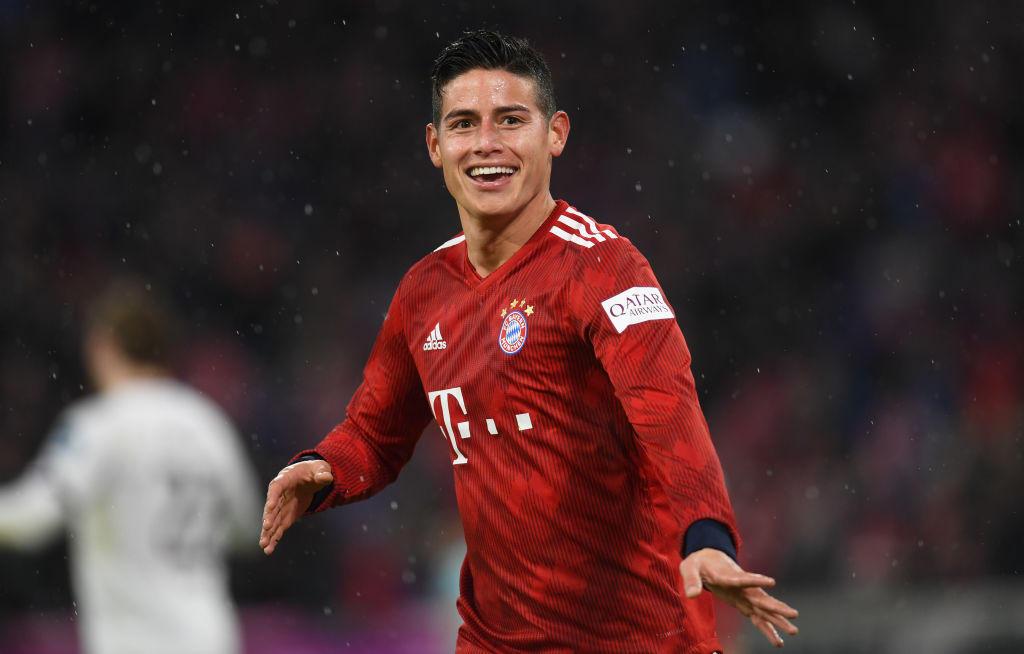 James Rodriguez con la maglia del Bayern Monaco (2017-2019)