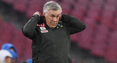 """Napoli, Ancelotti mastica amaro: """"Bene per un'ora, in difficoltà dopo il pari"""""""