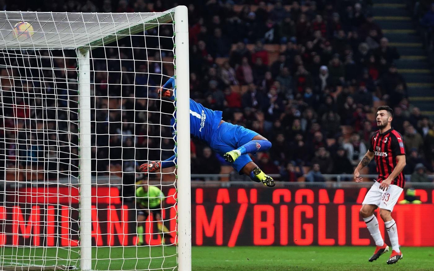Una rete dell'attaccante della Fiorentina affonda il Milan e mette a rischio la panchina di Ringhio