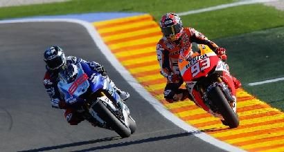 Lorenzo e Marquez libere Valencia foto MotoGP.com