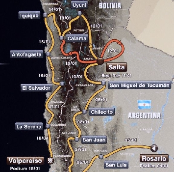 Il percorso della Dakar 2014