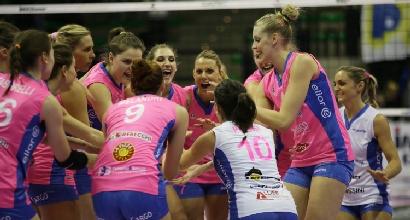 Volley, Champions donne: tris Piacenza, qualificazione in tasca