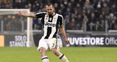 Juventus, stop per Chiellini: potrebbe saltare il Milan